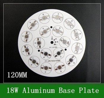 10PCS 18w LED RGB High Power Heat Sink \ Diameter 120mm Aluminum Base Plate White Ciruit Board Free shipping