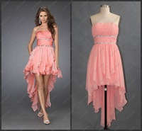 2012 Hot Sale Front Short And Long Back Real Cocktail Dress CR-001 Free Shipping
