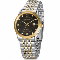 Classical man South Korea fashion to table, restore ancient ways waterproof steel watchband quartz set auger fashion table