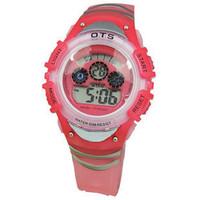 Pink luminous waterproof movement electronic watch jelly table