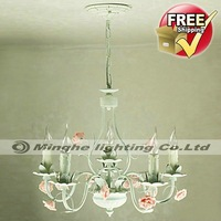 Free Shipping Floral Ceiling Chandelier with 6 Lights for Living Room, Bedroom, Dining Room in Rustic, Traditional/Classic style