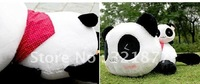 free shipping 35cm Cute black and white smile Papa panda pillow pillow plush toys birthday gift
