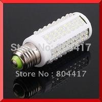 7W 108 LEDs Corn Energy Saving Light Bulb Lamp E27 110V~240V White/Warn White, Free Shipping
