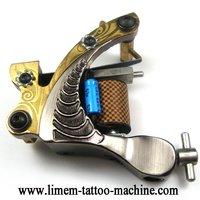 1pcs high quality Black Revolver TATTOO Machine Cast Iron Bullet Gun Shader tattoos equipment tattoo supplies Wholesale