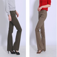 2013 new fashion  casual  cotton+spandex fabric OL/office lady women's  bell-bottomed pants/trousers