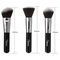 Кисти для макияжа High Quality Advanced Artificial FiberCosmetic Powder Brush Conical Top Black Handle Single Makeup Brush
