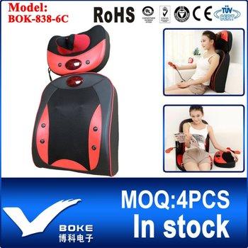 [BOKE Brand] Best Neck and Back Massage Products Popular Shiatsu Massage Cushion BOK-838-6C Hot Sale in China