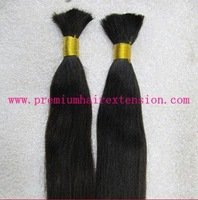 "16""18""20""22""24""26"" remy human hair bulk human Hair Bulk Hair Braid #1B natural black kinda brown 100g/pc 500g/color/lot DHL FREE"