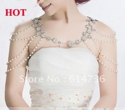 Freeshipping fashion wedding jewelry crystal jewelry Bridal accessoriess shoulder strap bride chain the bride necklace dual use(China (Mainland))
