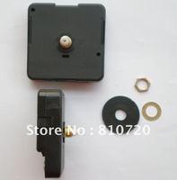 Free shipping 2pcs/lot Quartz Clock Movement Kit Spindle Mechanism shaft 12mm with hands