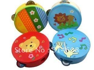 #1556 Wood baby hand pat drum tambourine