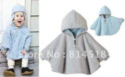 CPAM 4pcs/lot Baby Warm Mantle Poncho Infant Wraps Overall Hooded Overcoat Outerwear(China (Mainland))