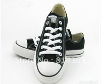 Free Shipping+ lowest price New economic canvas shoes men / women sneakers high top low top shoes size: 35-45