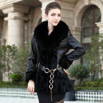 free shipping 2012 Fur coat mink overcoat medium-long fox fur mink