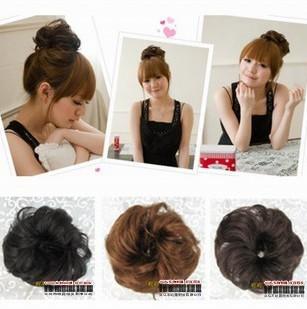 elastic wig headband hair accessory large hanamaki meatball head style the bride hair maker flower roll hair accessory