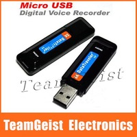 10pcs/lot One Button Micro USB Flash Drive Voice Recorder Mini Hidden Audio Recorder UP to 8 hrs & Free Shippping