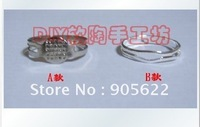 DIY metal ring ,A style +B style/set ,10set /LOT ,Free shipping .Size can adjust by yourself .The ring can open and closed .