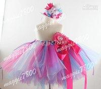 Birthday tutu skirt Baby Tutu dress girls Tutu Customed Tutu set matching Mini Top Hat hair bows hair clips 374