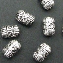 40 Pcs Tibetan Silver Fancy Tube Beads 10.5mm (1300)(China (Mainland))