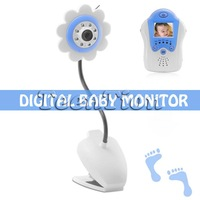 2.4GHz 4ch FM digital 1.5 inch Wireless Baby monitor sunflower design monitors security colour free shipping
