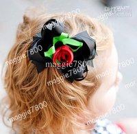 """4.5"""" Baby hair bows + hair clip set Girls' Hair Accessories Baby hairs clip grosgrain ribbon bows A376"""