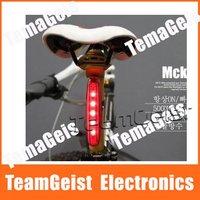20pcs/lot High Quality Waterproof Cycling bicycle 5 LED Bike Rear Tail Lamp Light Free Shipping