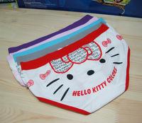 Hello kitty kate cat laciness big 100% cotton cartoon trigonometric panties chromophous female