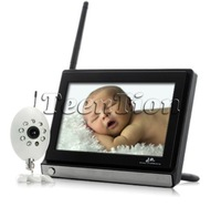 monitor buddy 4ch Wireless Widescreen 7 Inch LCD digital IR Baby Monitor with Night Vision Camera build in microphone