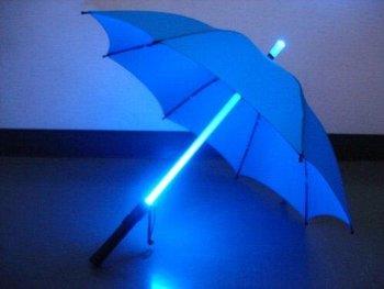 Retail Cool Blade Runner Light Saber LED Flashlight Umbrella( Blue Red Black Green Purple Pink) U-05