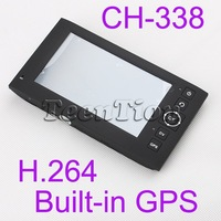 Free Shipping 4.3 Inch Car DVR camera recorder H.264 dashboard vehicle circulating recording+ GPS navigation CH-338