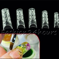 New 150pcs False Nail French Tips Mosaic Transparent Acrylic UV Gel Salon DIY Nail Art