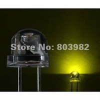 Factory Wholesale 568-575NM 4.8mm/5mm strawhat dip led(olivine color)1.9-2.3V 20mA