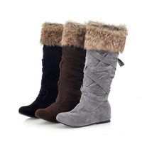 NEW 2013 new arrival  suede FanMao increased within the knight boots women  boots winter snow  boots Yh-y11