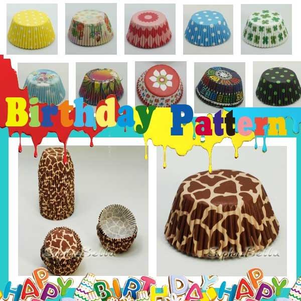 New design 200 Pcs animal kid's birthday cupcake liners baking supplies B093 D(China (Mainland))