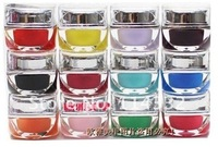 Free shipping New 12 Pure Color & Sequined Nail Art UV Gel Solid For Builder Polish Lamp Color light therapy uv gel nail polish