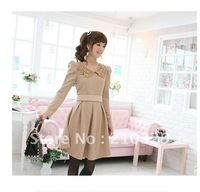 2012 new autumn dress ,Women dresses ,Spring and autumn dress ,Free shipping