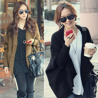 2 autumn new arrival batwing sleeve sweater cardigan plus size loose sweater cape outerwear women's