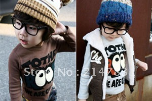 2012 new Factory direct sales big eye jacket,boys hoodie, child long-sleeve T-shirt sweatshirt big eyes(China (Mainland))