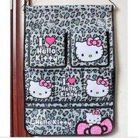 Free-shipping,Hello Kitty storage bag,Cloth art hanging belt pocket hang bag
