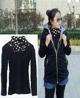 1138 mm plus size plus size clothing basic shirt autumn and winter polka dot turtleneck heap turtleneck fashion all-match