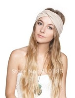Lycra solid color Stretch sports Headband Hair bands
