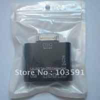 Drop Shipping 5 in 1 TF SD Card Reader USB Galaxy TAB OTG Connection for GALAXY TAB 10.1 P7500 P7300 etc.