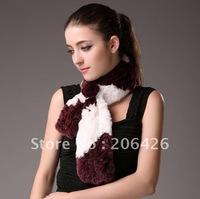 Genuine rex rabbit fur scarf/short scarf/scarves OEM/STOCK/CHEAP