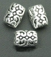 90 Pcs Tibetan Silver Fancy Filigree Barrel Beads 5mmx6mmx7.5mm (1309)(China (Mainland))