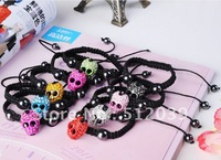 Ювелирное украшение с крестом Christmas! HOT NEW CRYSTAL CROSS CURVED SIDE WAYS CONNECTOR MACRAME ADJUST BRACELET Mix colors Vintage Jewelry CLOVER153A