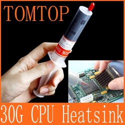 30g Grey Thermal Grease Paste Compound Silicone for CPU Heatsink Heat Sink 5pcs/lot Wholesale(China (Mainland))