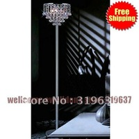 Free Shipping 3 - Light Floor Lights with Crystal Beads in Round