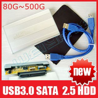 "High Quality USB 3.0 Super Speed 500GB 2.5"" SATA External Hard Drive Disk 2.5 inch HDD with Case, Free Shipping(China (Mainland))"