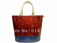 free shipping 2012  hot selling women's patent leather handbags fashion handbags  12