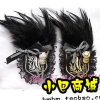 1531 fashion star fashion feather anchor badge epaulette vintage badge corsage brooch 10g